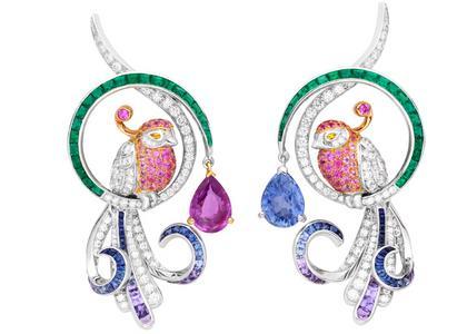 Birds of Paradise earrings by Van Cleef & Arpels