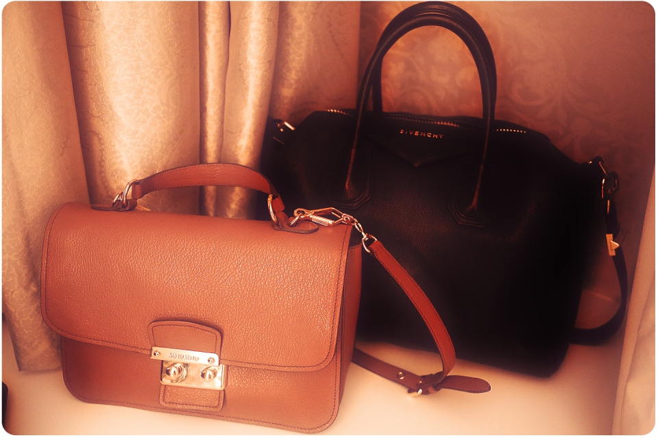 New baby (Miu Miu) and best friend (Givenchy)