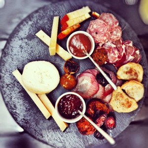 Cheese and meats platter at 1300 Taberna, one of the best meals I've had in years.