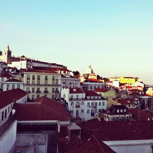 The view of Lisbon from Portas do Sol